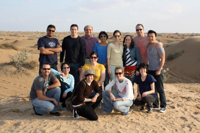 2008-2009, Inaugural Turkey and Middle East AGI Program;  Class picture on the desert, Dubai