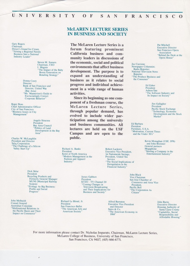 lecture series McLaren, 1985-1986 copy